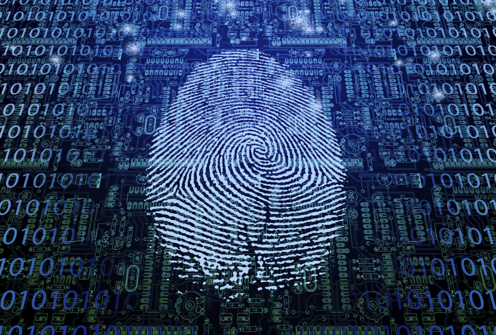 a thumbprint serves as an it asset disposal device on a digital device